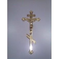 Крест на гроб металлизированный золото