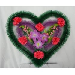 Венок ритуальный сердце