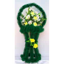 Венок ритуальный ваза на заказ