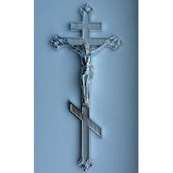 Крест на гроб металлизированный титан