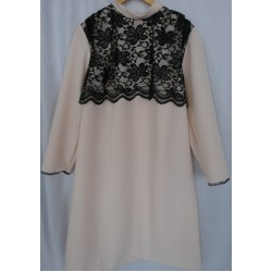 Платье женское габардин с кружевом