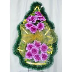 Венок ритуальный розы с бантом 161 ФСУ