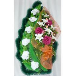 Венок ритуальный с лилией,хризантемой и розой 170 ФБУ