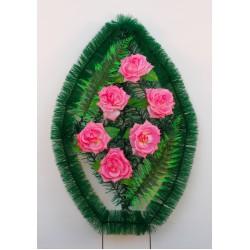 Венок ритуальный малый с розами 125 ФМУ