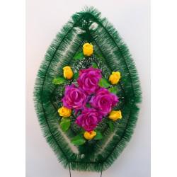 Венок ритуальный с бутонами роз и зеленью 167 ФМУ
