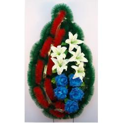 Венок ритуальный лилия с розой 169 ФСУ