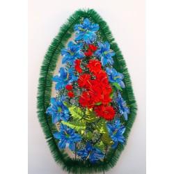 Венок ритуальный с атласными цветами 75 ФСУ