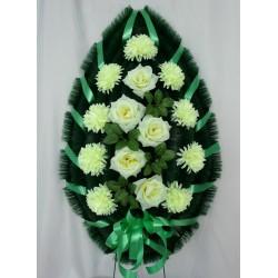 Венок ритуальный хризантема