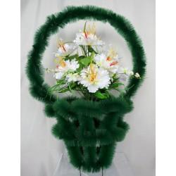 Корзина ритуальная большая с орхидеями 98 КБУ