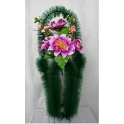 Корзина ритуальная кубок с орхидеями